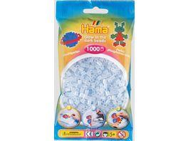 Hama Buegelperlen im Beutel ca 1000 Stueck nachtleuchtend blau