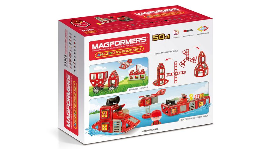 Magformers 278 56 Amacing Rescue Set 50 Teile