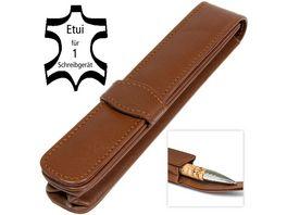 ONLINE Lederetui classic brown fuer 1 Stift