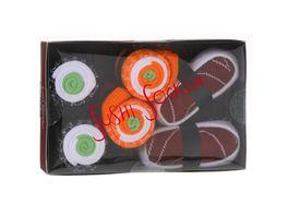 Geschenkbox Sushi Socken unisex 3er Pack