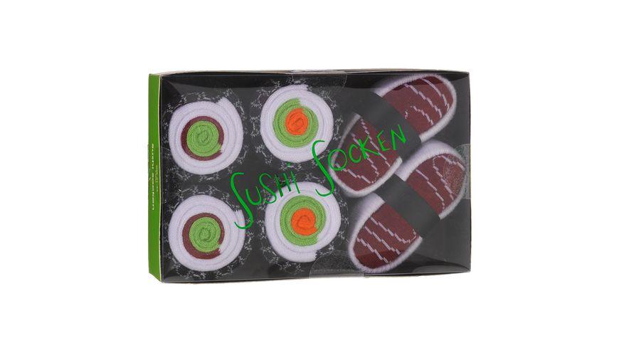 Geschenkbox Herren Socken Sushi 3er Pack