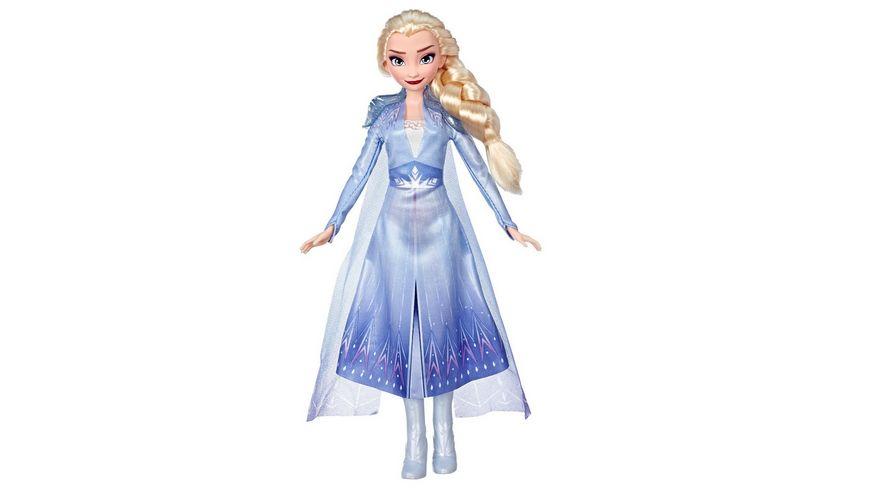 Hasbro - E6709 Disney Die Eiskönigin Elsa Puppe mit langem blondem Haar und blauem Outfit zu Disney Die Eiskönigin 2