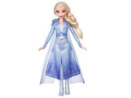 Hasbro Disney Die Eiskoenigin Elsa Puppe mit langem blondem Haar und blauem Outfit zu Disney Die Eiskoenigin 2