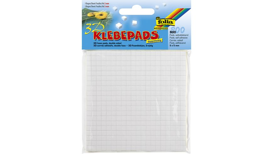 folia 3D Klebepads 2 3mm 800 Pads