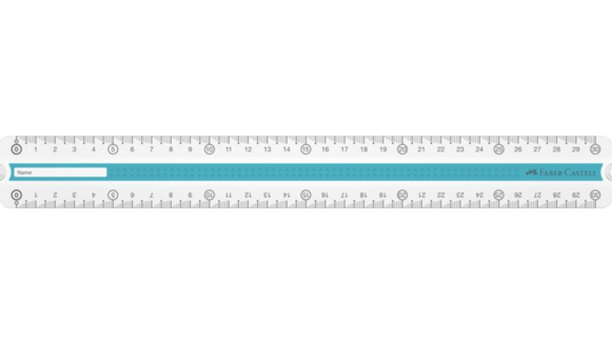 FABER CASTELL GRIP Lineal 30cm blau tuerkis sortiert