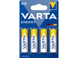 VARTA ENERGY Alkaline Batterie AA Mignon LR6 4 Stueck