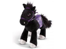 NICI Pferd Black Cassis 16cm stehend mit Zaumzeug