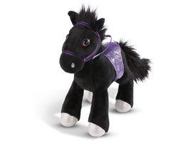 NICI Pferd Black Cassis 35cm stehend mit Zaumzeug