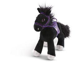 NICI Pferd Black Cassis 25cm stehend mit Zaumzeug