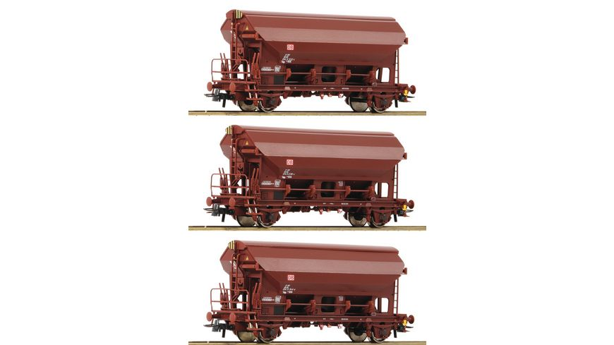 Roco 76575 3 tlg Set Schwenkdachwagen DB AG