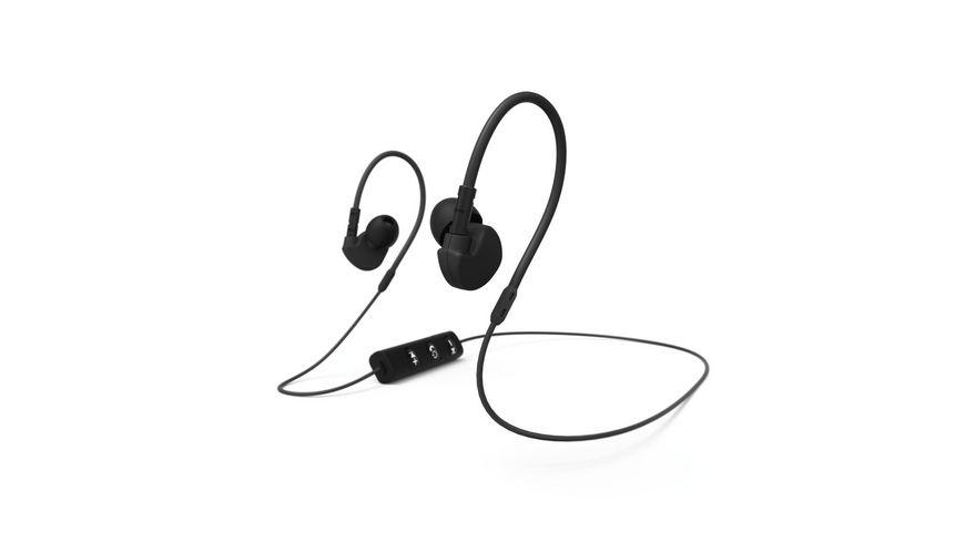Bluetooth Sport Kopfhoerer Run BT In Ear Mikrofon Ohrbuegel Schwarz