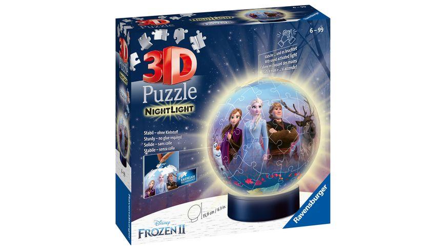 Ravensburger Puzzle - 3D Puzzle-Ball - Nachtlicht - Frozen 2