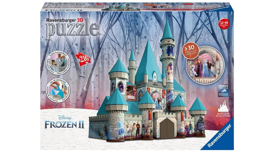 Ravensburger Puzzle 3D Puzzle Ball Disney Frozen 2 Schloss