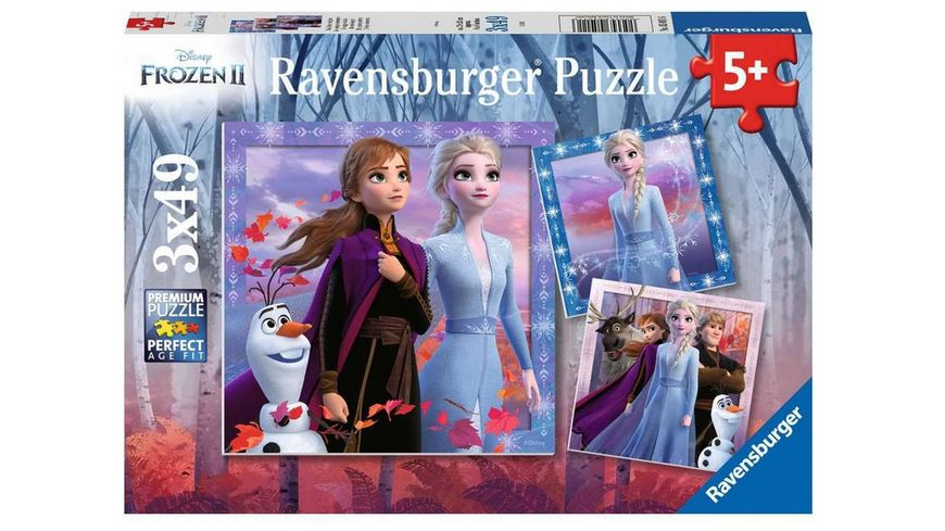 Ravensburger Puzzle Frozen Die Reise beginnt 3x49 Teile