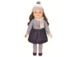 Mueller Toy Place Modern Girl Puppe Brunette Blue Dress