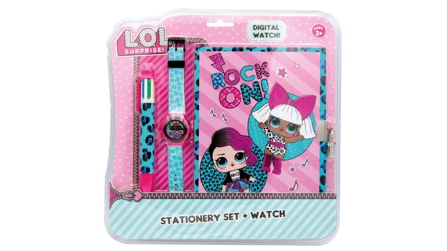 L O L SURPRISE LOL LCD Uhr mit Tagebuch