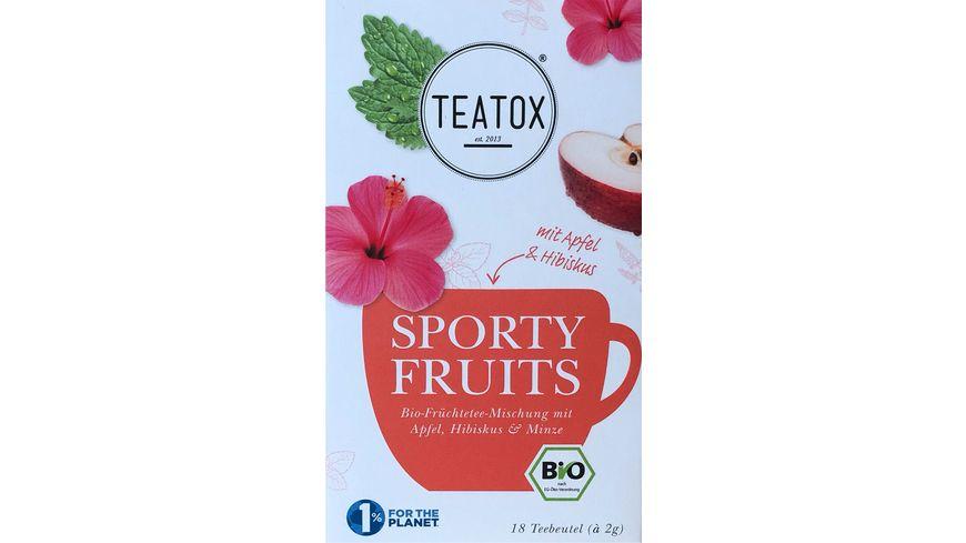 TEATOX Sporty Fruits - Bio Doppelkammerteebeutel