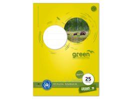 Ursus Green Schulblock A4 50 Blatt Lineatur 25 9mm liniert mit Rand