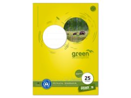 Ursus Green Schulblock Lineatur 25 A4 50 Blatt 9mm liniert mit Rand