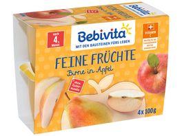 Bebivita Feine Fruechte nach dem 4 Monat Birne in Apfel
