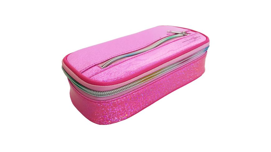 PAPERZONE Schlamperbox rosa mit Glitzer