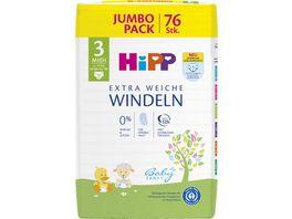HiPP Babysanft Windeln Midi 3 Jumbo 6 10 kg Groesse 62 80 76 St