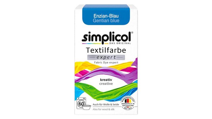 simplicol Textilfarbe expert Enzian-Blau