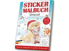 Mal und Stickerbuch Wintermotive