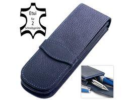 ONLINE Lederetui classic blue fuer 2 Stifte