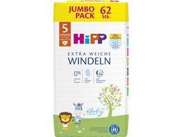 HiPP Babysanft Windeln Junior 5 Jumbo 12 17 kg Groesse 86 104 62 St