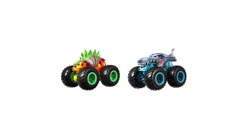 Mattel Hot Wheels Monster Trucks 1 64 Die Cast 2er Pack sortiert
