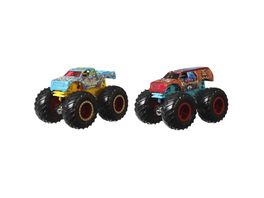 Mattel Hot Wheels Monster Trucks 1 64 Die Cast 2er Pack sortiert