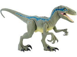 Mattel Jurassic World Riesendino Velociraptor Blue