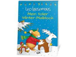 Leo Lausemaus Mein toller Winter Malblock
