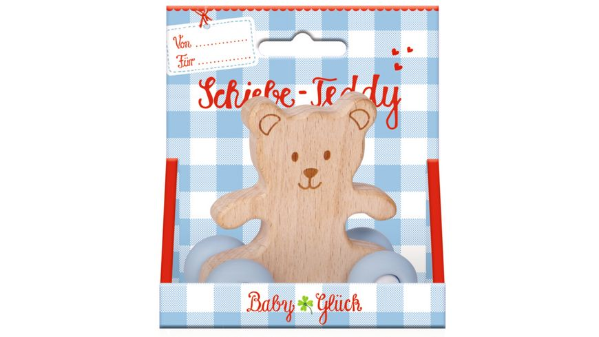 Die Spiegelburg Schiebe Teddy aus Holz BabyGlueck