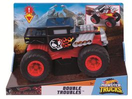 Mattel Hot Wheels Monster Trucks 1 24 Double Troubles Bone Shaker