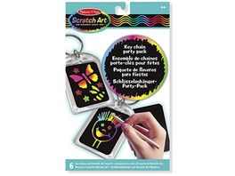 Melissa Doug Scratch Art Schluesselanhaenger Party Pack
