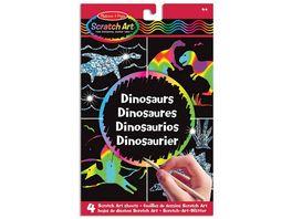 Melissa Doug Scratch Art Dinosaurier
