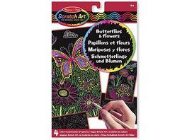 Melissa Doug Scratch Art Schmetterlinge und Blumen