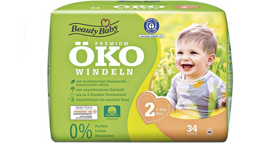 Beauty Baby Premium Öko Windeln, Größe 2 Mini, 4-8 kg ...