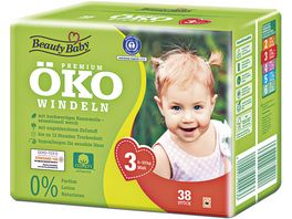 Beauty Baby Premium Oeko Windeln Groesse 3 Midi 6 10 kg