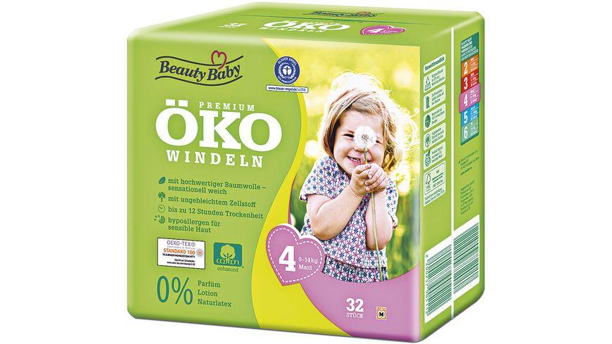 Beauty Baby Premium Oeko Windeln Groesse 4 Maxi 9 14 kg