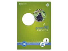 Ursus Green Premium Heft A4 16 Blatt Lineatur 1 farbig