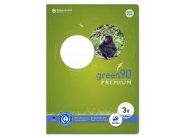 Ursus Green Premium Heft A4 16 Blatt Lineatur 3R mit Rand