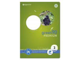 Ursus Green Heft A4 16 Blatt Lineatur 2 farbig