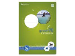 Ursus Green Premium Heft A4 16 Blatt Lineatur 26 kariert mit Rand