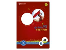 Ursus Green Premium Heft A4 32 Lineatur 26 kariert mit Rand