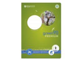 Ursus Green Premium Heft A5 16 Blatt Lineatur 2 farbig