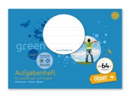 Ursus Green Aufgabenheft FX 64c A5 16 Blatt