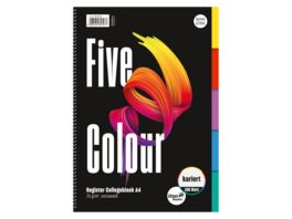 Ursus Basic Collegeblock Five Colour A4 80 kariert